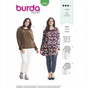 6392 Burda Pattern: Misses' Plus Size Blouse